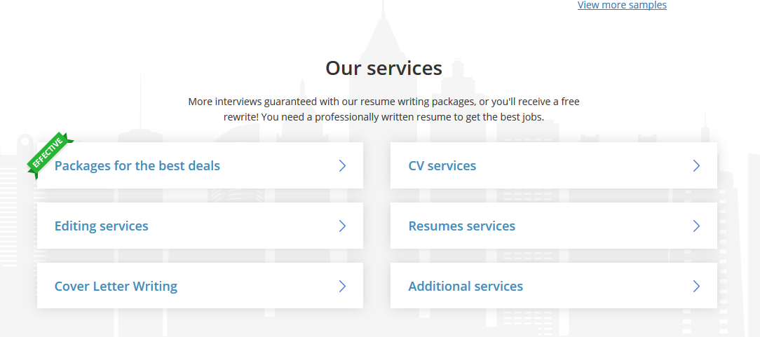 Resumesplanet.com Services