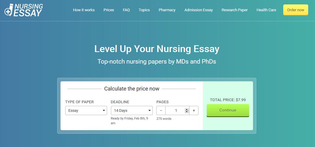 nursingessaywriting.com website