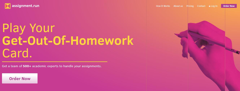 assignment.run website
