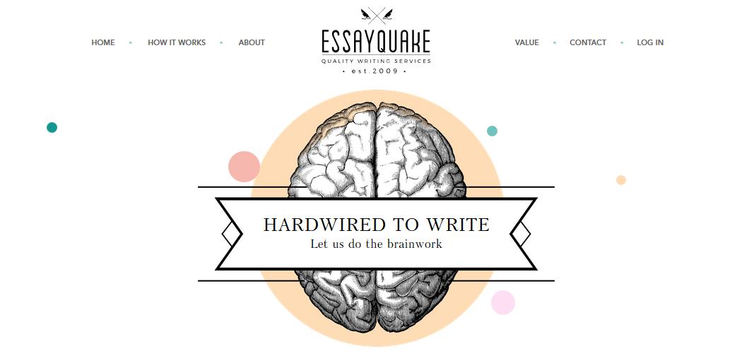 essayquake.com website